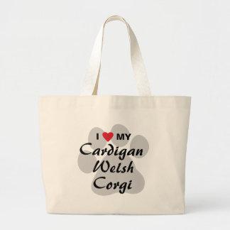 I Love (Heart) My Cardigan Welsh Corgi Canvas Bag