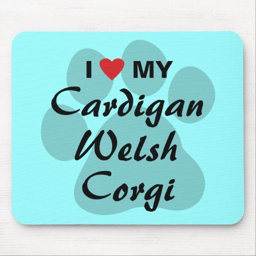 I Love (Heart) My Cardigan Welsh Corgi Mousepads
