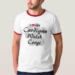 I Love (Heart) My Cardigan Welsh Corgi T-Shirt