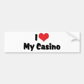I Love Heart My Casino - Las Vegas Gambling Bumper Sticker