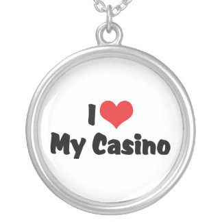 I Love Heart My Casino - Las Vegas Gambling Silver Plated Necklace