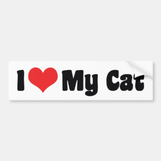 I Love Heart My Cat - Cat Lover Bumper Sticker