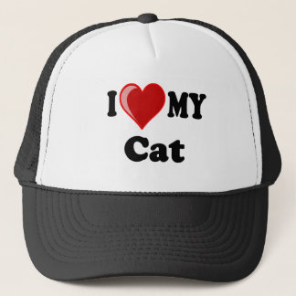 I Love (Heart) My Cat Gifts Trucker Hat