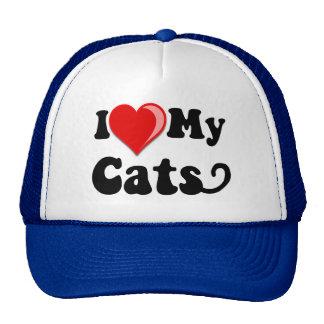 I Love (Heart) My Cats Trucker Hat