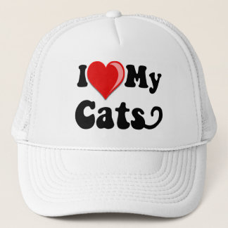 I Love (Heart) My Cats Trucker Hat