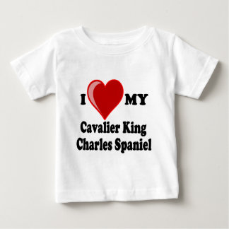 I Love (Heart) My Cavalier King Charles Spaniel Baby T-Shirt