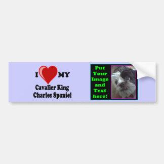 I Love (Heart) My Cavalier King Charles Spaniel Car Bumper Sticker
