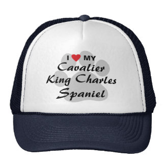 I Love (Heart) My Cavalier King Charles Spaniel Trucker Hat