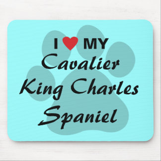 I Love (Heart) My Cavalier King Charles Spaniel Mouse Pad