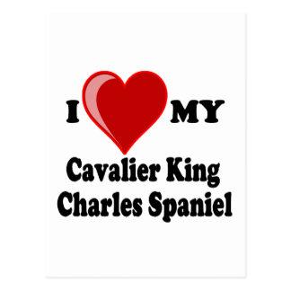 I Love (Heart) My Cavalier King Charles Spaniel Postcard
