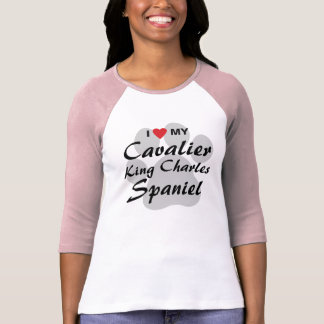 I Love (Heart) My Cavalier King Charles Spaniel T-Shirt