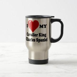 I Love (Heart) My Cavalier King Charles Spaniel Travel Mug