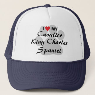 I Love (Heart) My Cavalier King Charles Spaniel Trucker Hat