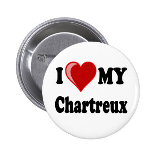 I Love (Heart) My Chartreux Cat 2 Inch Round Button