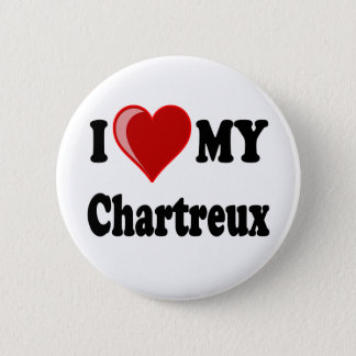 I Love (Heart) My Chartreux Cat Pinback Button