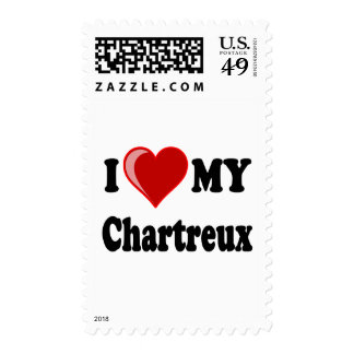 I Love (Heart) My Chartreux Cat Stamps