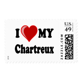 I Love (Heart) My Chartreux Cat Postage