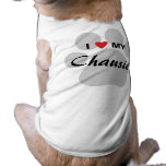I Love (Heart) My Chausie Cat Pawprint Design Tee