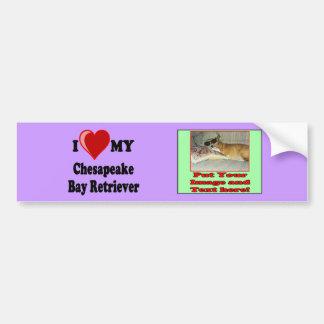 I Love (Heart) My Chesapeake Bay Retriever Dog Bumper Sticker