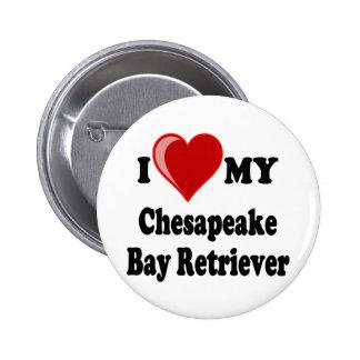 I Love (Heart) My Chesapeake Bay Retriever Dog Button