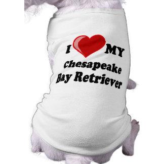 I Love Heart My Chesapeake Bay Retriever Dog Doggie Tee Shirt