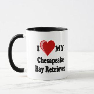 I Love (Heart) My Chesapeake Bay Retriever Dog Mug