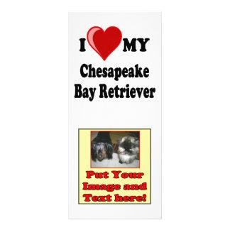 I Love (Heart) My Chesapeake Bay Retriever Dog Rack Card