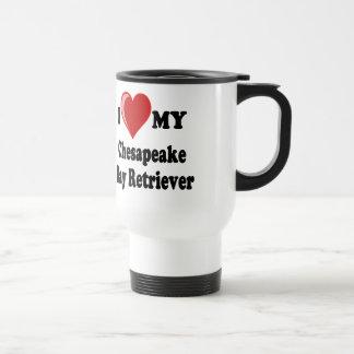 I Love (Heart) My Chesapeake Bay Retriever Dog Travel Mug