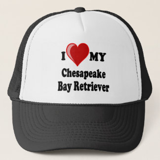 I Love (Heart) My Chesapeake Bay Retriever Dog Trucker Hat