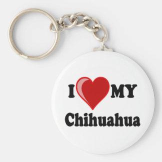 I Love (Heart) My Chihuahua Dog Keychain