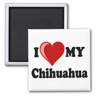I Love (Heart) My Chihuahua Dog Magnet