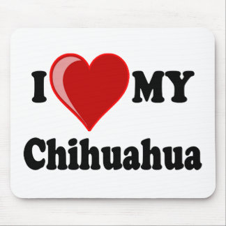 I Love (Heart) My Chihuahua Dog Mouse Pad