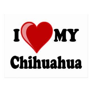 I Love (Heart) My Chihuahua Dog Postcard