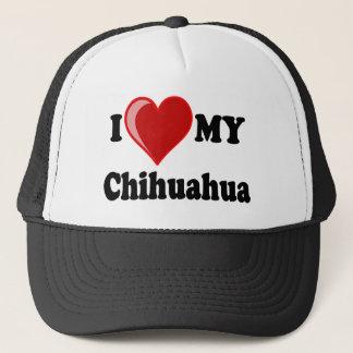 I Love (Heart) My Chihuahua Dog Trucker Hat