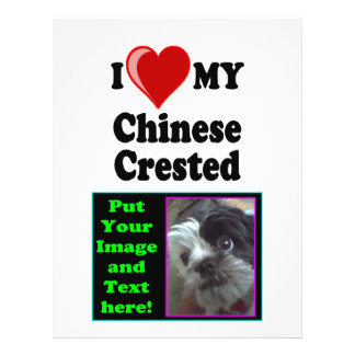I Love (Heart) My Chinese Crested Dog Flyer