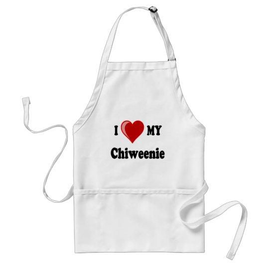 I Love (Heart) My Chiweenie Dog Adult Apron