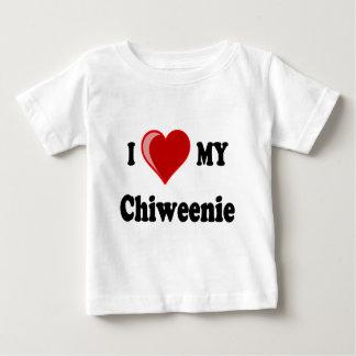 I Love (Heart) My Chiweenie Dog Baby T-Shirt