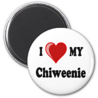 I Love (Heart) My Chiweenie Dog Magnet