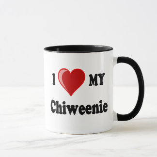 I Love (Heart) My Chiweenie Dog Mug
