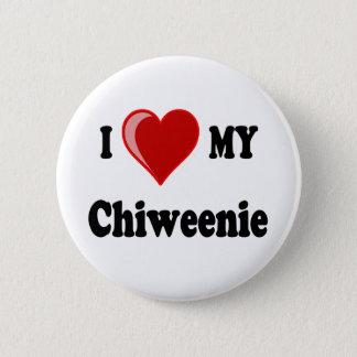 I Love (Heart) My Chiweenie Dog Pinback Button