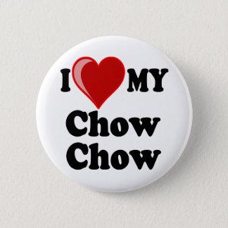 I Love (Heart) My Chow Chow Dog Button