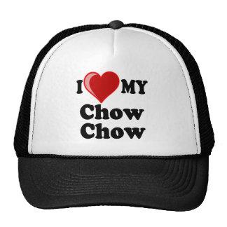 I Love (Heart) My Chow Chow Dog Trucker Hat
