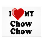 I Love (Heart) My Chow Chow Dog Personalized Invite