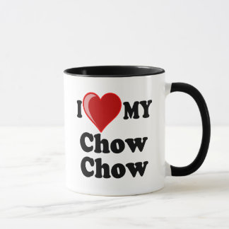 I Love (Heart) My Chow Chow Dog Mug