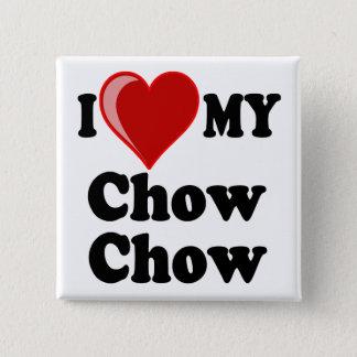 I Love (Heart) My Chow Chow Dog Pinback Button