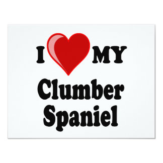I Love (Heart) My Clumber Spaniel Dog Card