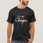 I Love (Heart) My Conure Bird Tracks Design T-Shirt