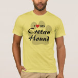 I Love (Heart) My Cretan Hound Dog Lovers T-Shirt