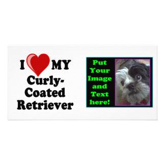 I Love (Heart) My Curly-Coated Retriever Dog Card