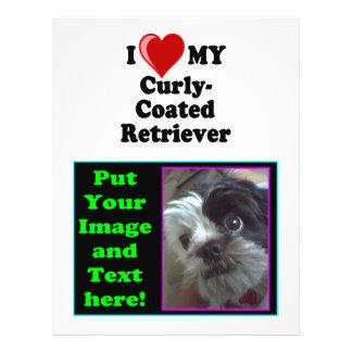 I Love Heart My Curly-Coated Retriever Dog Flyers